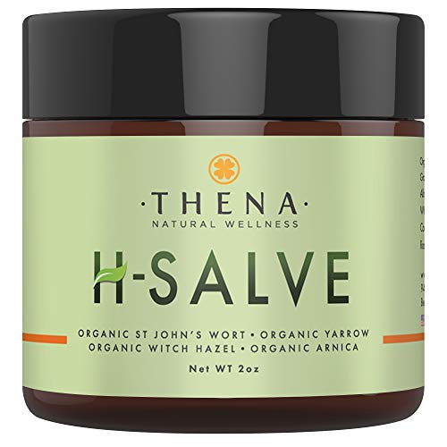 Organic H Salve Soothes & Relieves Hemmoroid & Fissure, Intense Natural Hemorrhoid Treatment Remedy, Herbal Essential Oil Healing Formula Ointment Emollient Cream Balm, Best with THENA Sitz Bath Soak