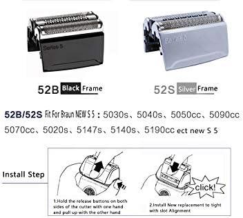 31B - Lámina de afeitar para afeitadora Braun 5000/6000 Series ...