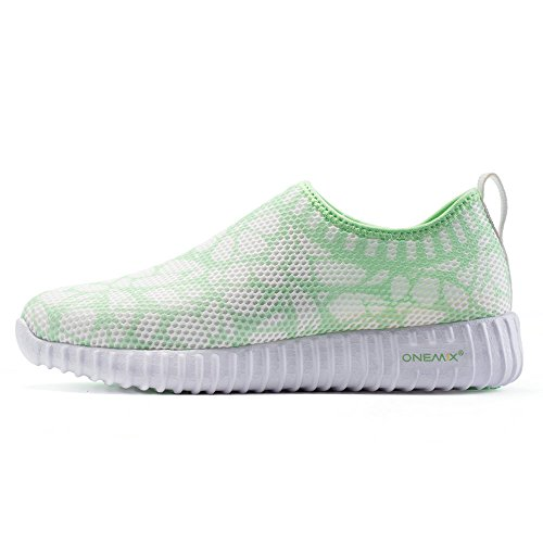 Onemix Running Walking Shoes Women Comfortable Greygreen XUJew