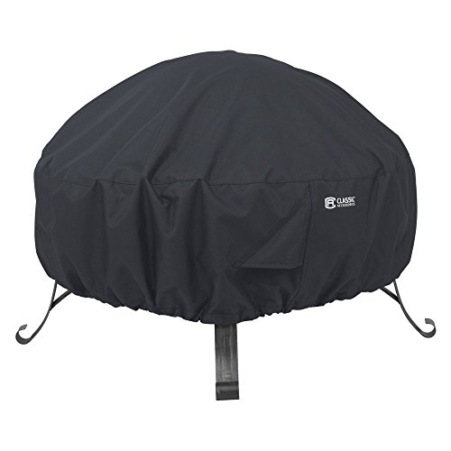 Classic Accessories Classic Black Round Full Coverage Fire Pit Cover