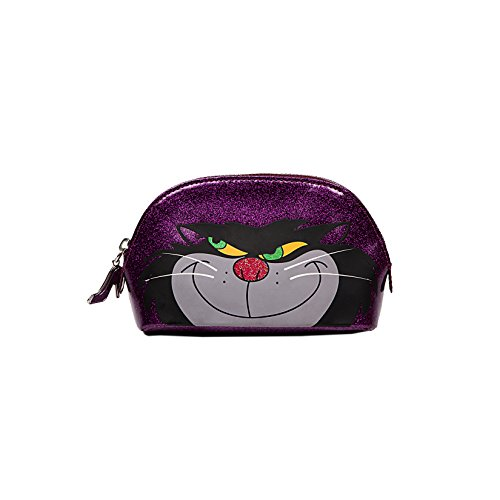 Disney by Danielle Nicole Purple Cosmetic Case Lucifer (Cinderella Cats)