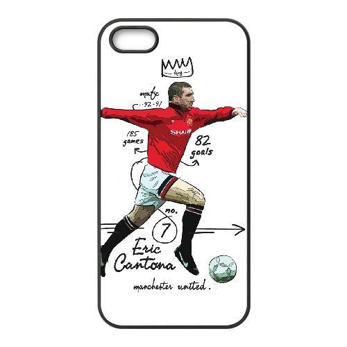 Eric Cantona 002 coque iPhone 4 4S cellulaire cas coque de téléphone cas téléphone cellulaire noir couvercle EEEXLKNBC24946