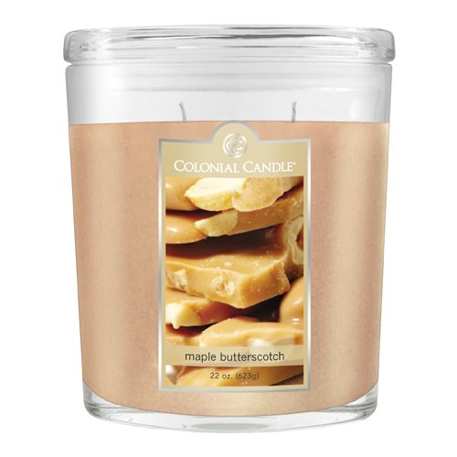 Colonial Candle Autumn Collection Maple Butterscotch 22-Ounce Oval Jar Candle