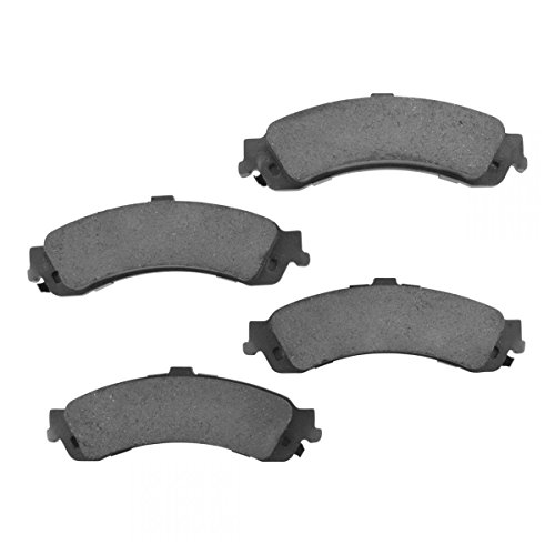 (Premium Posi Ceramic Brake Pad Rear Set Kit for Chevy GMC Cadillac 4WD)