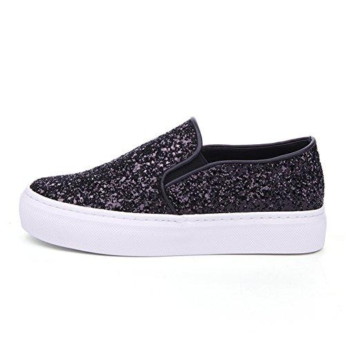 Ola coreana pone pie en primavera Lok Fu zapatos/Zapatos de mujer/ zapatillas de lentejuelas de moda/Calzado transpirable A