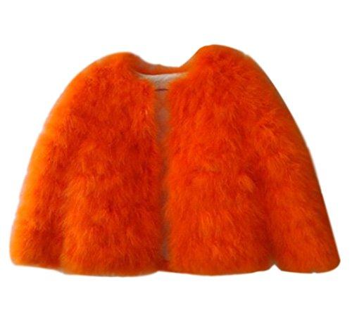 Cappotto Elegante Corto Invernale Donna A Pelliccia Corta Lunghe xInYqw4X