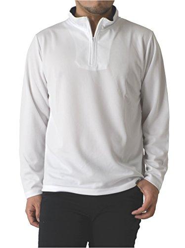 啓発するくびれた足首(リミテッドセレクト) LIMITED SELECT M1.5 ドライ メッシュ ハーフジップ カットソー 吸汗速乾 長袖 tシャツ アスレジャー