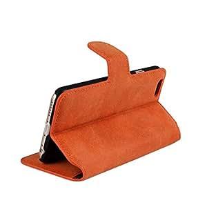 Cozyswan Scrub PU Flip Case Funda para iPhone 55S piel sintética Carcasa Funda Estilo Flip Cover Piel Auténtica diseño simple Piel