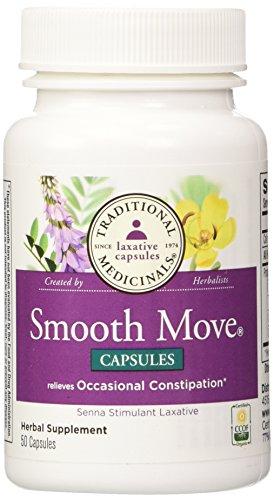 Traditional Medicinals - Smooth Move Senna, 50 capsules Smooth Move Laxative