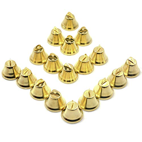 - Welecom Pack of 60 Pcs Craft Bells Decorative Brass Bells for Christmas Festival Decor DIY Craft, 1 inch
