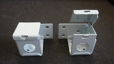 1 PAIR: MINI BLIND Brackets, for 1 X 1 Head Rail, in White Metal (Horizontal) Amazing Drapery Hardware