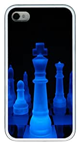 iPhone 4S Case,Glowing King TPU Custom iPhone 4/4S Case Cover Whtie