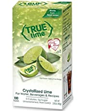 TRUE LIME Water Enhancer, Bulk Dispenser Pack (100 Packets) | Zero Calorie Unsweetened Water Flavoring | For Water, Bottled Water & Recipes | Water Flavor Packets Made with Real Limes