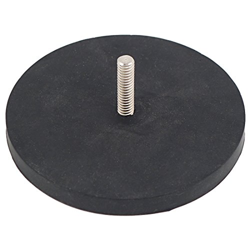 (Master Magnetics NADR351MBX Retaining Magnet with 1/4-20 Threaded Stud, Rubber Covered Black, 3.51