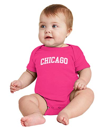 HAASE UNLIMITED Chicago - State Proud Strong Pride Bodysuit (Pink, 12 Months) -