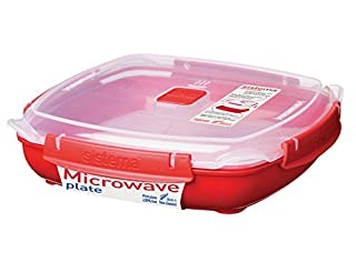 Sistema Microwave Collection Plate with Removable Steaming Rack, Large, 44.6 oz./1.3 L, Red (B005D6Y16K) | Amazon price tracker / tracking, Amazon price history charts, Amazon price watches, Amazon price drop alerts