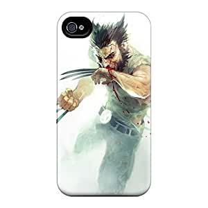 Durable Protector Case Cover With Wolverine Bloody Hot Design For Iphone 4/4s