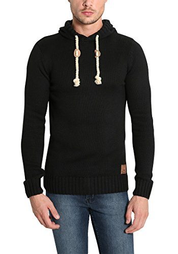 Pull 9000 Capuche Pitu En Homme Grosse Tricot over solid Maille Pour À Pull Black Y0wqOORB