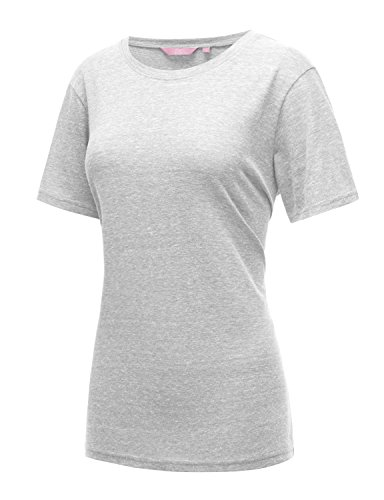 Regna X Women's White Simple Slip Swing Short Crop Cute Cuffed Sleeve Tunic XXL (Womens Simple Slip)