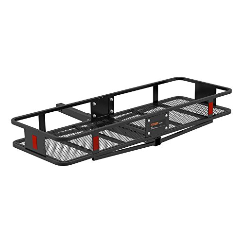 (CURT 18151 Basket Trailer Hitch Cargo Carrier, 500 lbs. Capacity, 58-Inch x 20-Inch x 5-1/2-Inch, Fits 2-Inch Receiver)