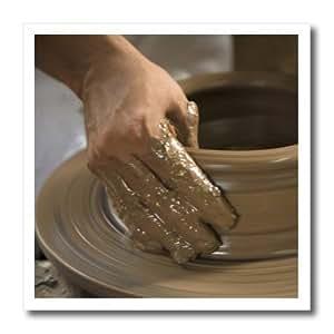 ht_86880_2 Danita Delimont - Pottery - Nicaragua, Catarina. Pottery wheel and clay - SA14 JME0127 - John & Lisa Merrill - Iron on Heat Transfers - 6x6 Iron on Heat Transfer for White Material
