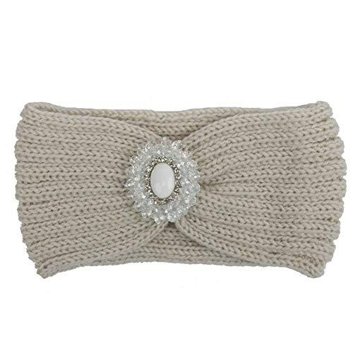 Womens Winter Knitted Ear Warmer Knot Headband Crochet Bow Wool Hat Hairband (StyleID - Style 53)