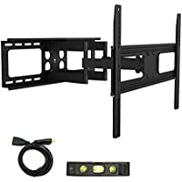 Atron Vision AM-3270DS TV Wall Mount for most 32-70 LED LCD Plasma Flat Screen Monitor up to 110 lb VESA 600x400 with Full Motion Swivel Articulating 20 in Extension Arm, HDMI Cable & Bubble Level