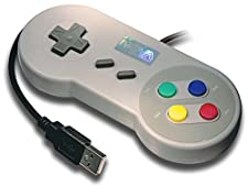 NovaTek Classic SNES Super Nintendo USB Retro Gaming Controller/Gamepad for PC /Linux/Mac/RaspberryPi/Arcade/Emulators (Multi-Color Buttons)