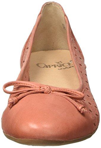 Caprice 22114, Bailarinas para Mujer Naranja (Orange Nubuc)