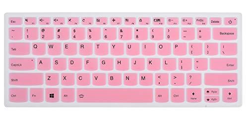 ikammo Keyboard Cover Skin Protector Compatible with Lenovo Yoga 920 13.9 Inch, Lenovo Yoga 720 12.5 Inch /13.3 Inch,Lenovo Yoga 730 13.3 Inch(Pink)