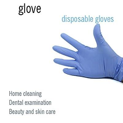 Panfinggin Nitrile Gloves, Disposable Gloves,10 Pcs Powder Free, Disposable Exam Gloves (Blue): Clothing
