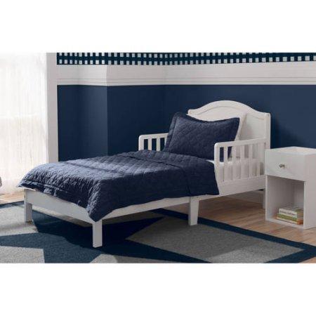 Delta Children Baker Toddler Bed Bianca,Guardrails on both sides from Delta Children