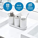 iDesign Cade Bathroom Accessory, 4 Piece Set
