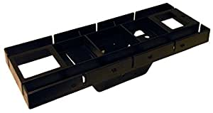 Gibraltar Mailboxes Patriot Rust-Proof Plastic Black, Mailbox Mounting Board, GMB225B