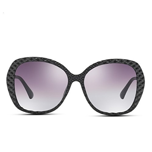 Black negro polarizadas Bastidor Gran Sunglasses PC gafas Redondo sol de Nuevo TL mujer wa46qP67