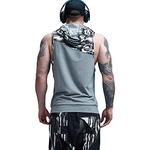 bf1a237c AIMPACT Muscle Tank Tops Camo Athletic Workout Shirt Weightlifting  Bodybuilding Stringer Gym Sleeveless Hoodie Tank Top