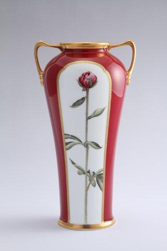 ノリタケ アートコレクションダリア絵素描花瓶 B00EKZOLW4