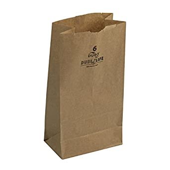 Duro ID# 18406 6# SOS Bag 35# 100% Recycled Natural Kraft, 6