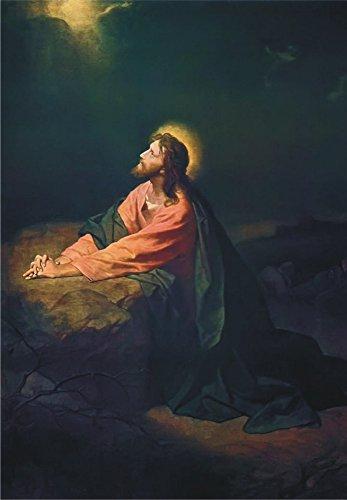 Dress Up Jesus - Jesus Christ in the Garden of Gethsemane, Painting, Art, Souvenir Magnet 2 x 3 Photo Fridge Magnet