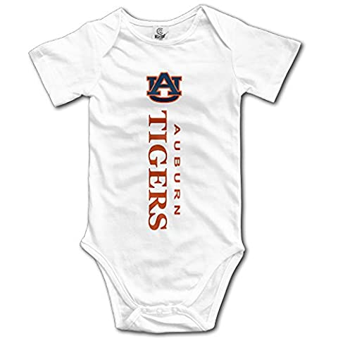 White Baby's Auburn Tigers Logo Sleeveless Romper Jumpsuit - Infant One Piece Cheerleader Dress