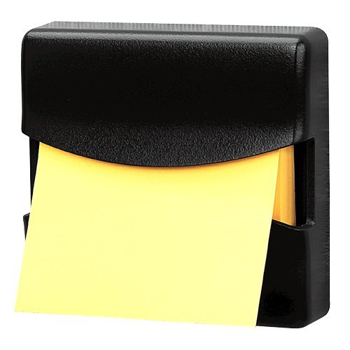 Fellowes Partition Additions Pop-Up Note Dispenser, For 3 x 3 Inches Pads, Graphite (Fellowes Plastic Partition)