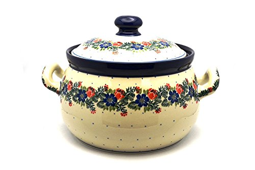 Polish Pottery Covered Tureen (without ladle slot) - Garden Party ()