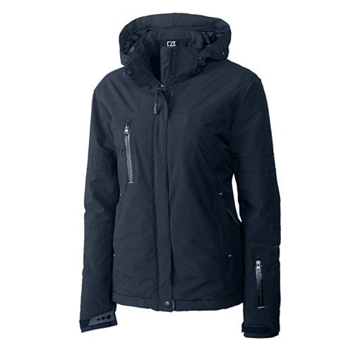 Weathertec Jacket (Cutter & Buck Women's CB Weathertec Sanders Jacket, Navy Blue, Small)