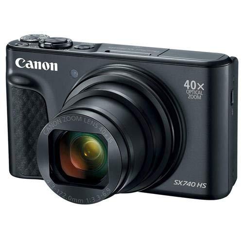 Canon Movie Cameras - Canon PowerShot SX740 Digital Camera w/40x Optical Zoom & 3 inch Tilt LCD - 4K Video, Wi-Fi, NFC, Bluetooth Enabled (Black)