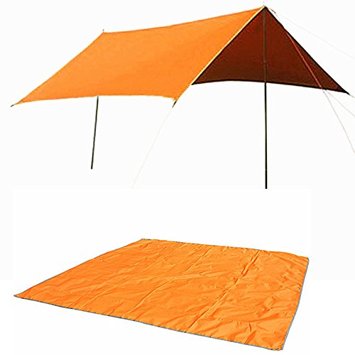MyZenStore 3-4 Person Tent Mat Oxford Tent Ground Cloth Shade Canopy With Pouch