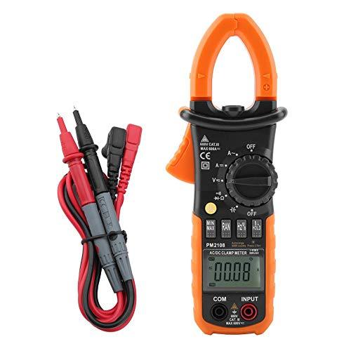 Digital Clamp Meter, PM2108 Portable Digital AC/DC Clamp Meter Multimeter Current Voltage Resistance Teste for Precision Measuring