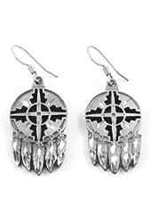 Earth Spirit Earrings - Sheild & Feathers - Earth Spirit Earrings - Sheild & Feathers