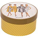 Simplicity Vintage 559360001 Fashion 1960's Round Sewing Storage Box, W x 7.25'' L x 3.75'' H