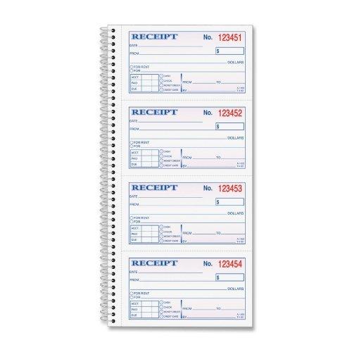 Tops - Money/Rent Receipt Book,Crbnls,2-Part,5x2-3/4,200/BK, Sold as 1 Each, TOP4161 5x2-3/4 Tops Products Tops 4161