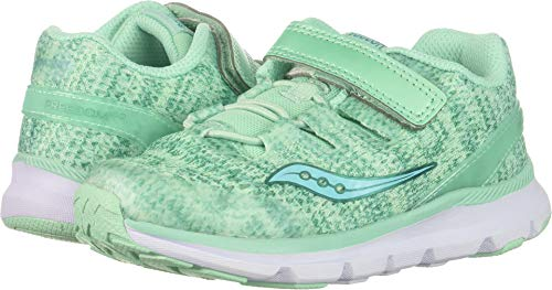 Saucony Girls' Baby Freedom ISO Sneaker, Aqua, 5.5 Wide US Toddler